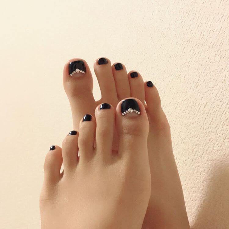 uñas elegantes para el pie | pies | Pinterest | Uñas elegantes ...