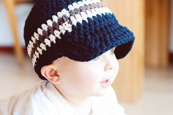 c3e9eb3bb27 32 Colors Toddler Boy Hat Newborn Baby Boy Cap Gift for Men Him Dad Crochet  Knit Beanie with Visor B
