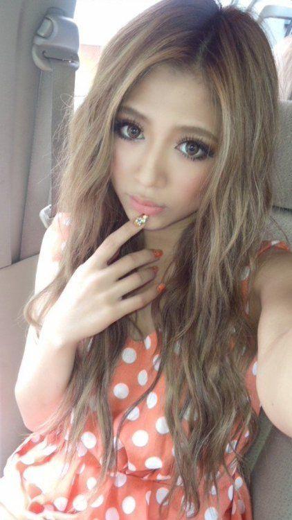 Gyaru Make Up Orange Beauty Hair Colors Brown Hairs Color Asian