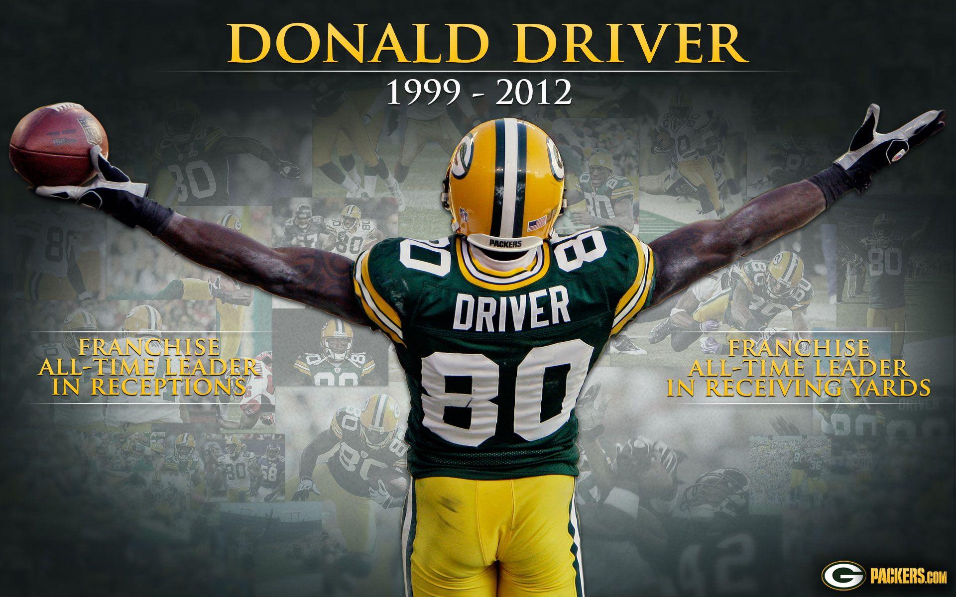 Donald Driver #80 Hall of fame