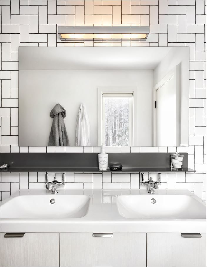White Brick Pattern Tile Design Bathroom Pinterest White
