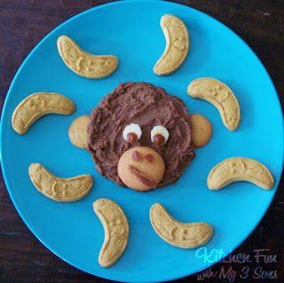 Healthy Monkey Chocolate Cookie Dough Dip with Banana Cookies!