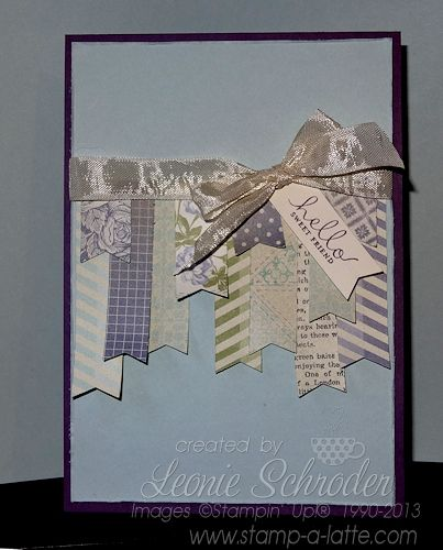 Monday Makes … with Banners Stampin' Up! Banner Punch not just for the stamps!  Create your own sweet garland for friends and family and use up those scraps of patterned papers #stampinup #bannerpunch #saleabration2014