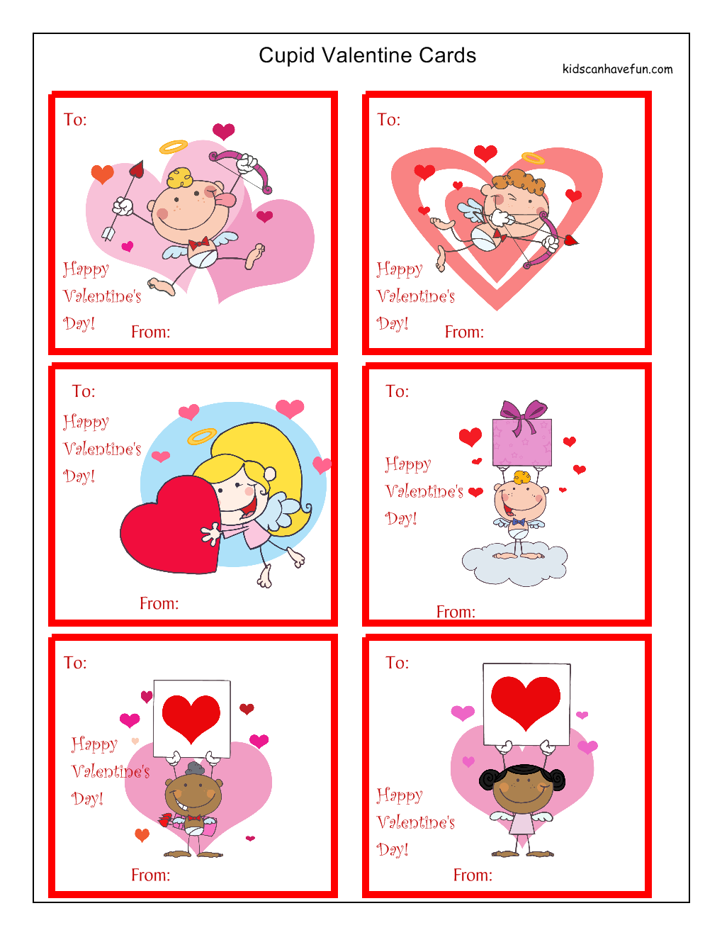 Cupid Cutouts Toddlers