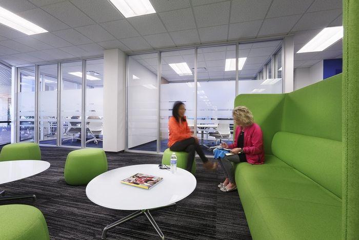 Office Tour Asics America Headquarters Irvine Corporate Interior Design Corporate Interiors Modular Lounges
