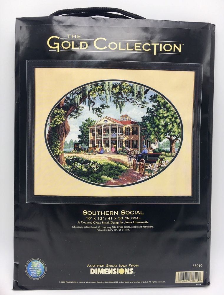 Dimensions Gold Collection 35010 Southern Social 1999 Counted Cross