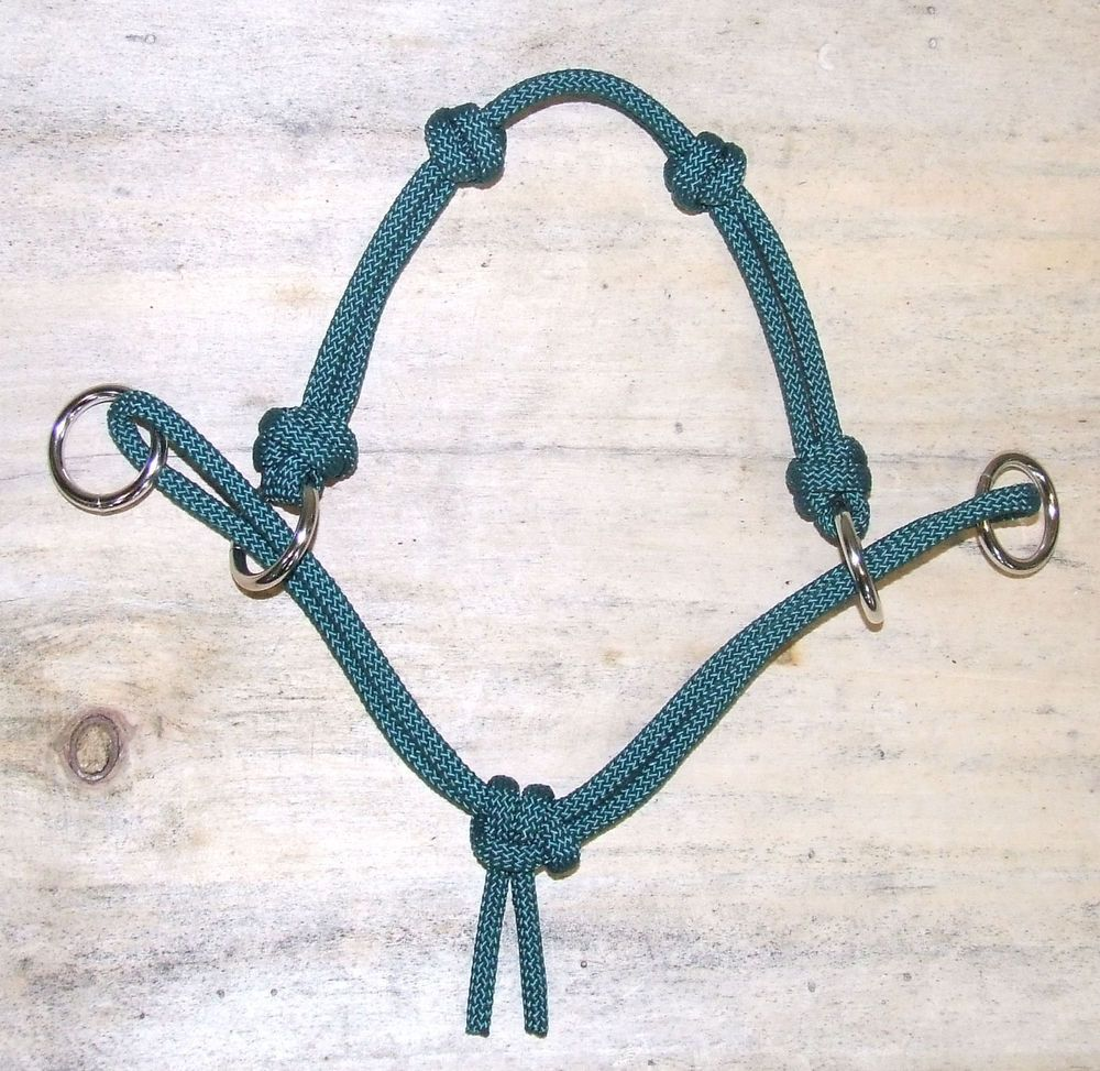 New 4 Knot Modified Side Pull Horse Rope Hackamore Bitless Bridle Attachment Bitless Bridle Equestrian Outfits Horse Gear