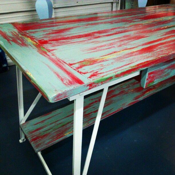 funky paintd furniture | ... custom #color #painted #paint #hip #diy #furniture #homedecor #rustic