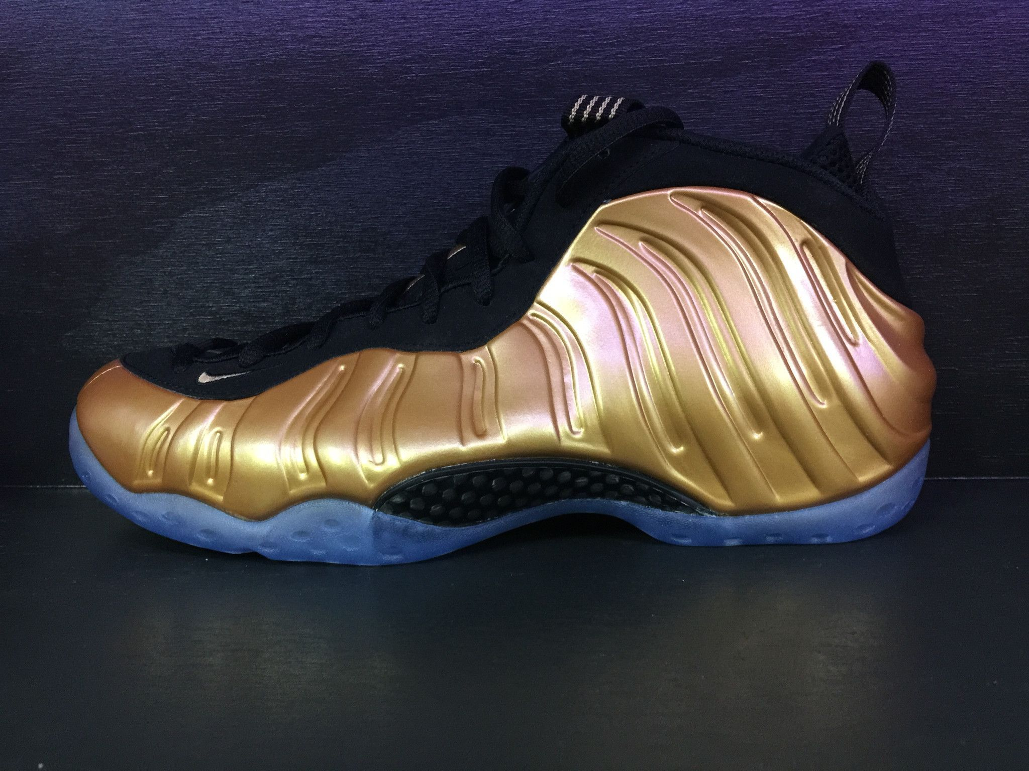 4be56bdbecc Nike Air Foamposite One  Metallic Gold  Nice Jordans