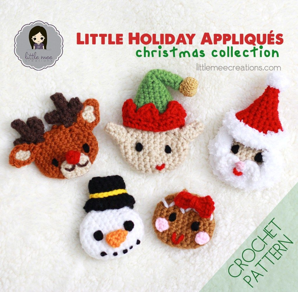 holiday appliques christmas crochet pattern by Little Mee Creations ...