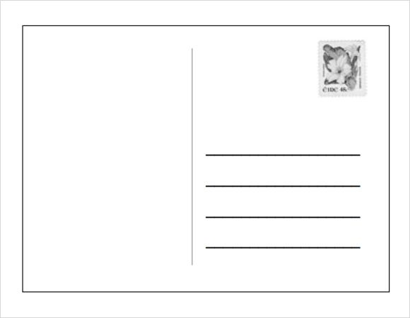 Blank Postcard Template   Download Free Document In Pdf  Psd