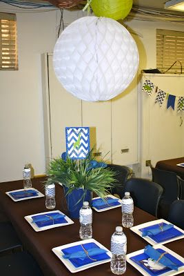 Enchanted Expectations: Chevron Zoo Crew Office Baby Shower