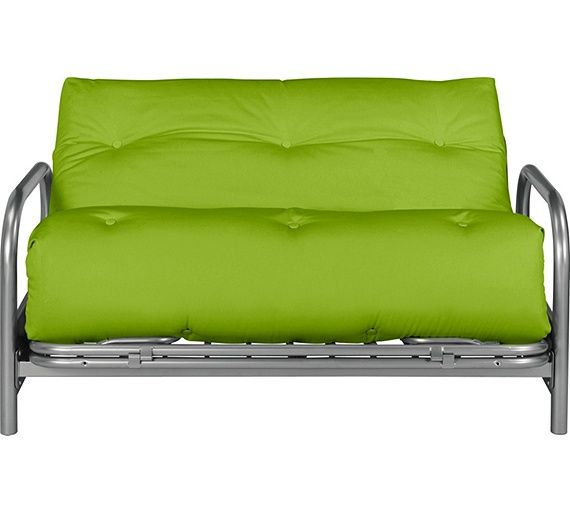 green sofa bed mattress | Home Mexico 2 Seater Futon Sofa Bed - Green | Futon sofa ...