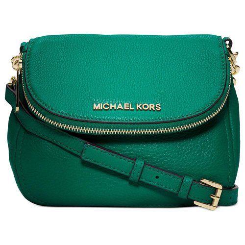 MICHAEL Michael Kors Bedford Flap Crossbody Bag in Aqua Blue Pebbled Leather