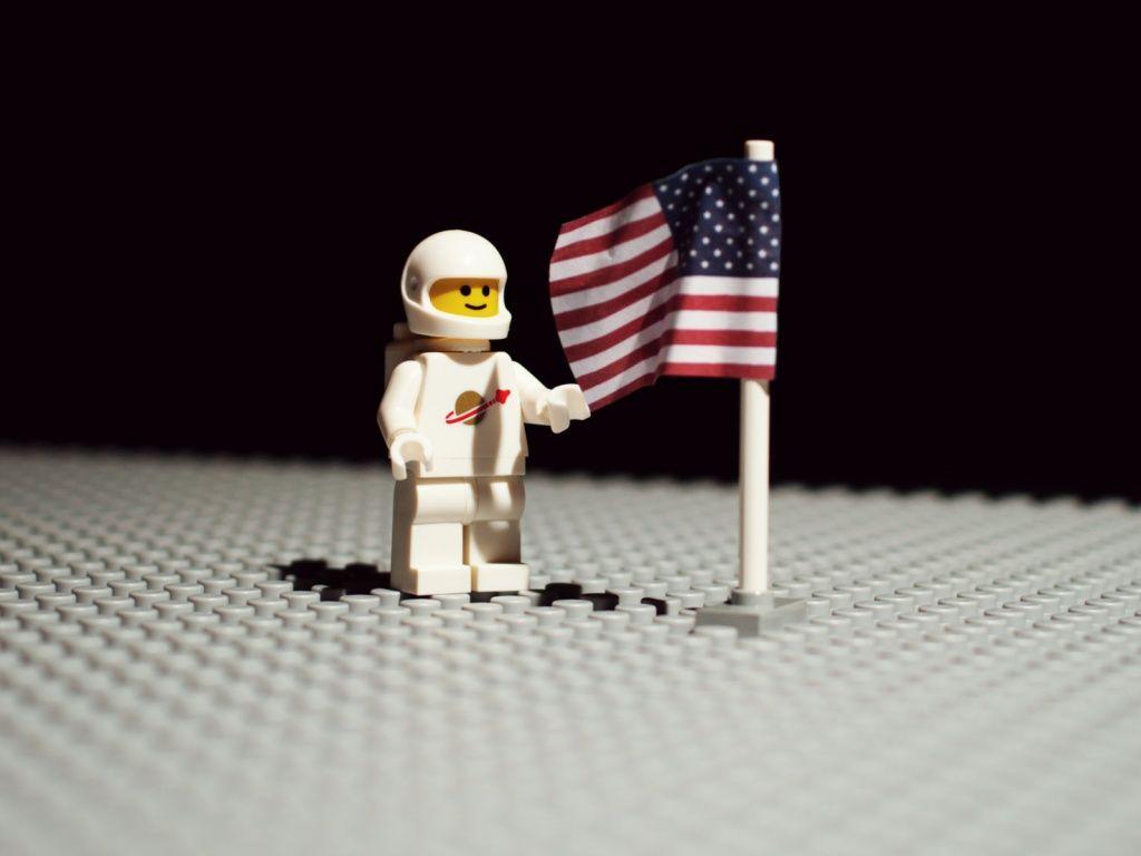 Lego On The Moon Lego Wallpaper Moon Landing Lego