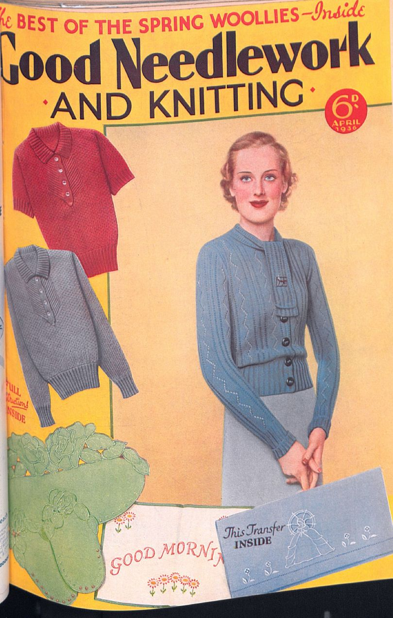 Free Vintage Pattern Sweater 30sSpring Woolies | knit and crochet ...