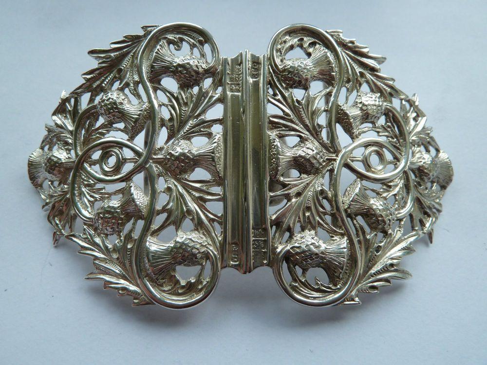 Details about Rare 1899 Solid Glasgow Hallmarked Silver Arts