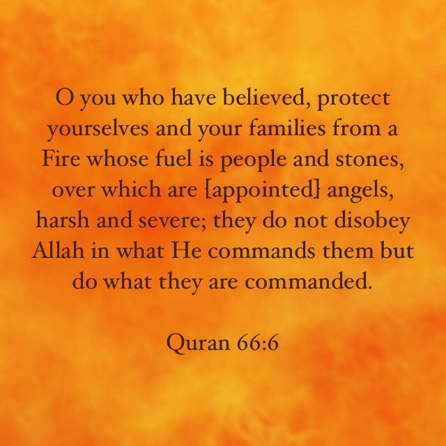 Protect yourself from the punishment of hell