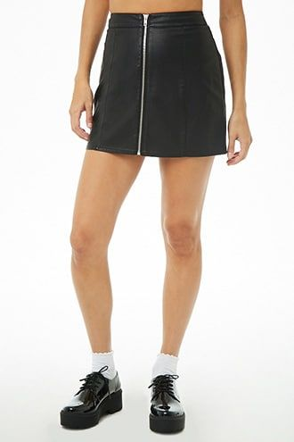 56c002fa5b Black faux leather mini skirt (inspo pic only -- shop anywhere sustainable)  *Size medium or 6
