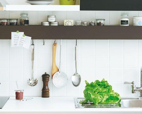 Küchenfronten Verschönern ~ Küche verschönern kreative tipps regal praktisch und küche