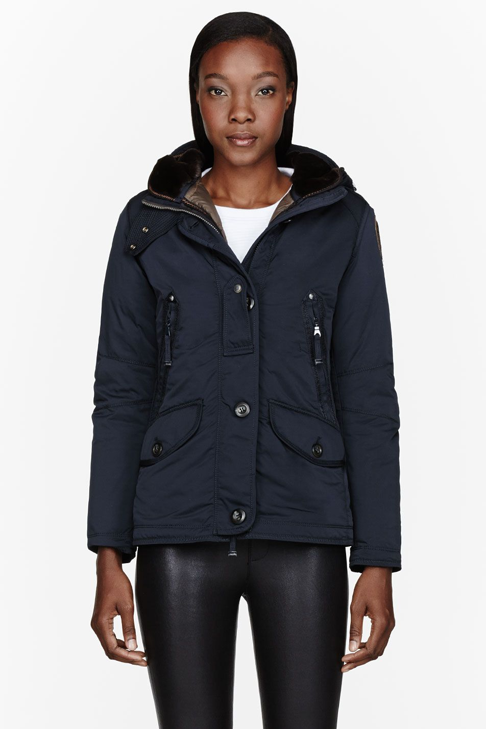 PARAJUMPERS Navy Down Hooded Arches Jacket
