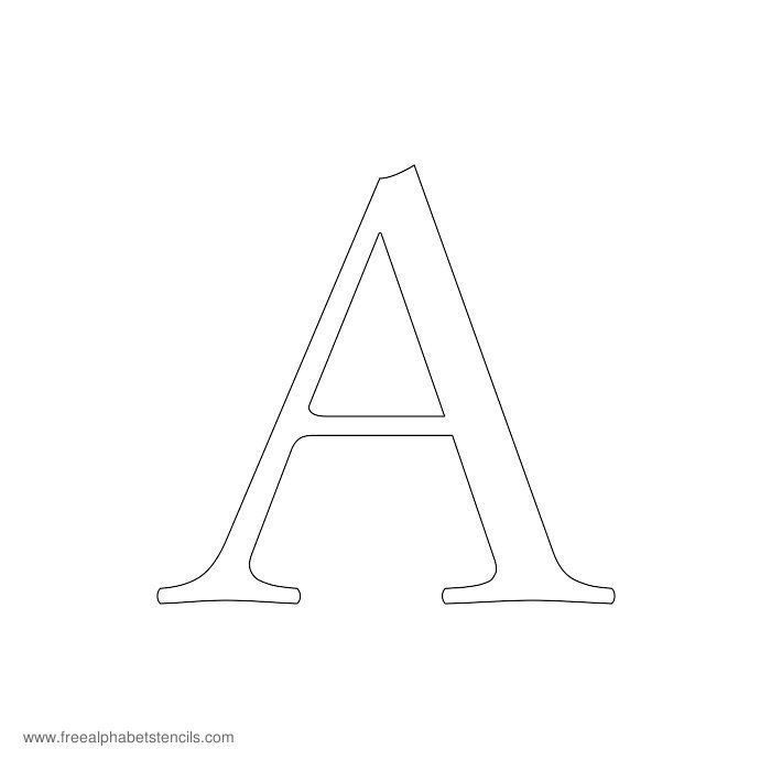 Free Printable Stencils For Alphabet Letters Numbers Wall