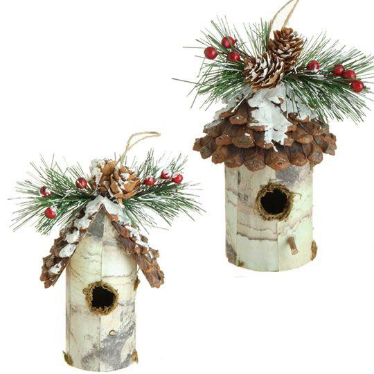 "3452473 - 6"" BIRDHOUSE ORNAMENT | Diy christmas tree ..."
