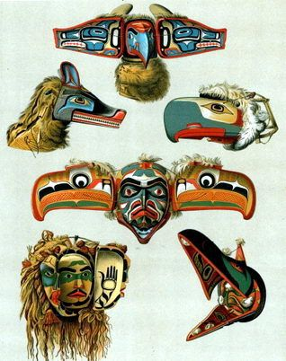 Seminole Indian Clothing | Here are some Kwakiutl masks ...
