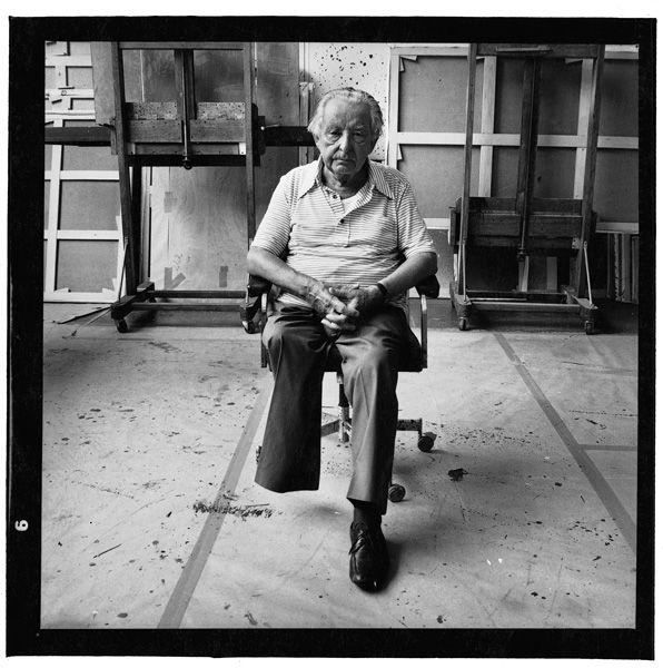 Hans Hartung. Marc Trivier. 50 x 50 cm. Black & White photography.