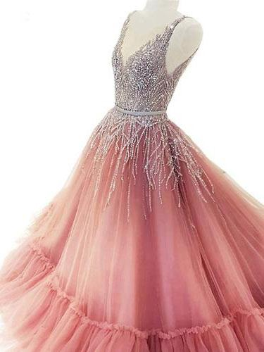 ef1dc072497 Sweet 15 Quinceanera Dresses Ombre Beaded Tulle Unique Prom Dresses APD3459  - SheerGirl