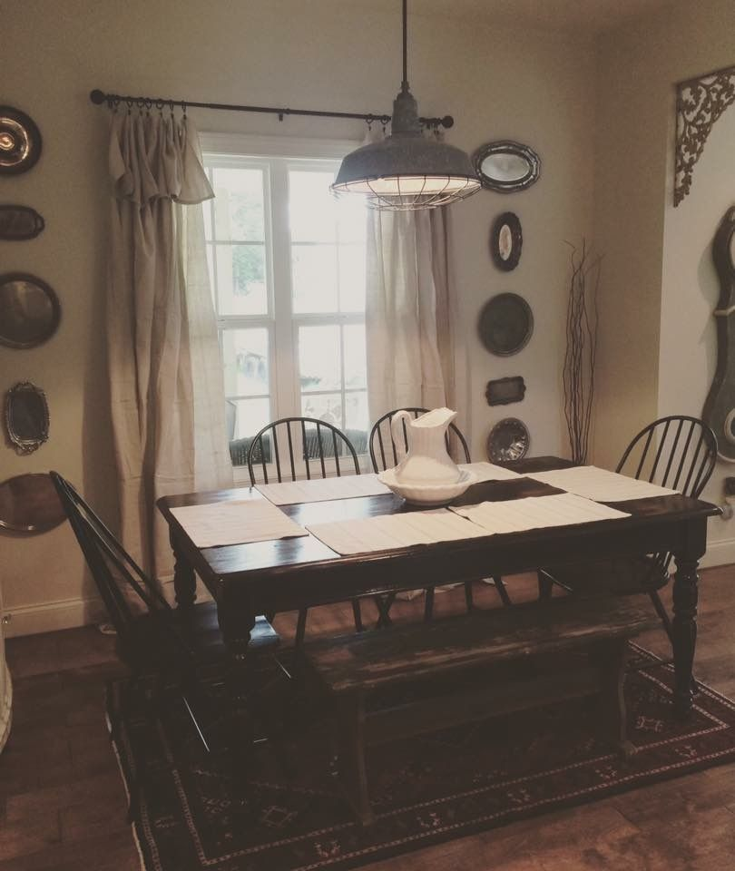 Breakfast nook farmhouse home decor furniture dining table