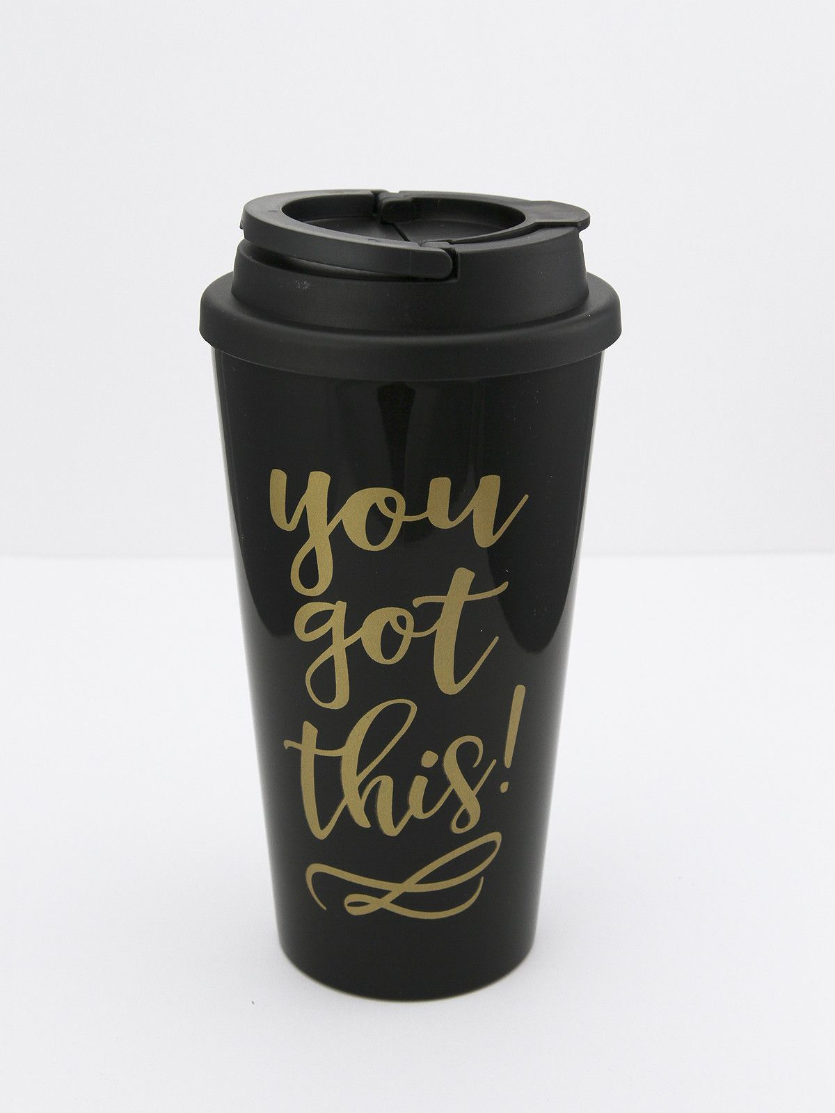 Material Content 16 Oz Plastic Insulated Travel Tumbler With Flip Cover Top And Handle Dishwasher Safe Microwave Bpa Free Imported Item