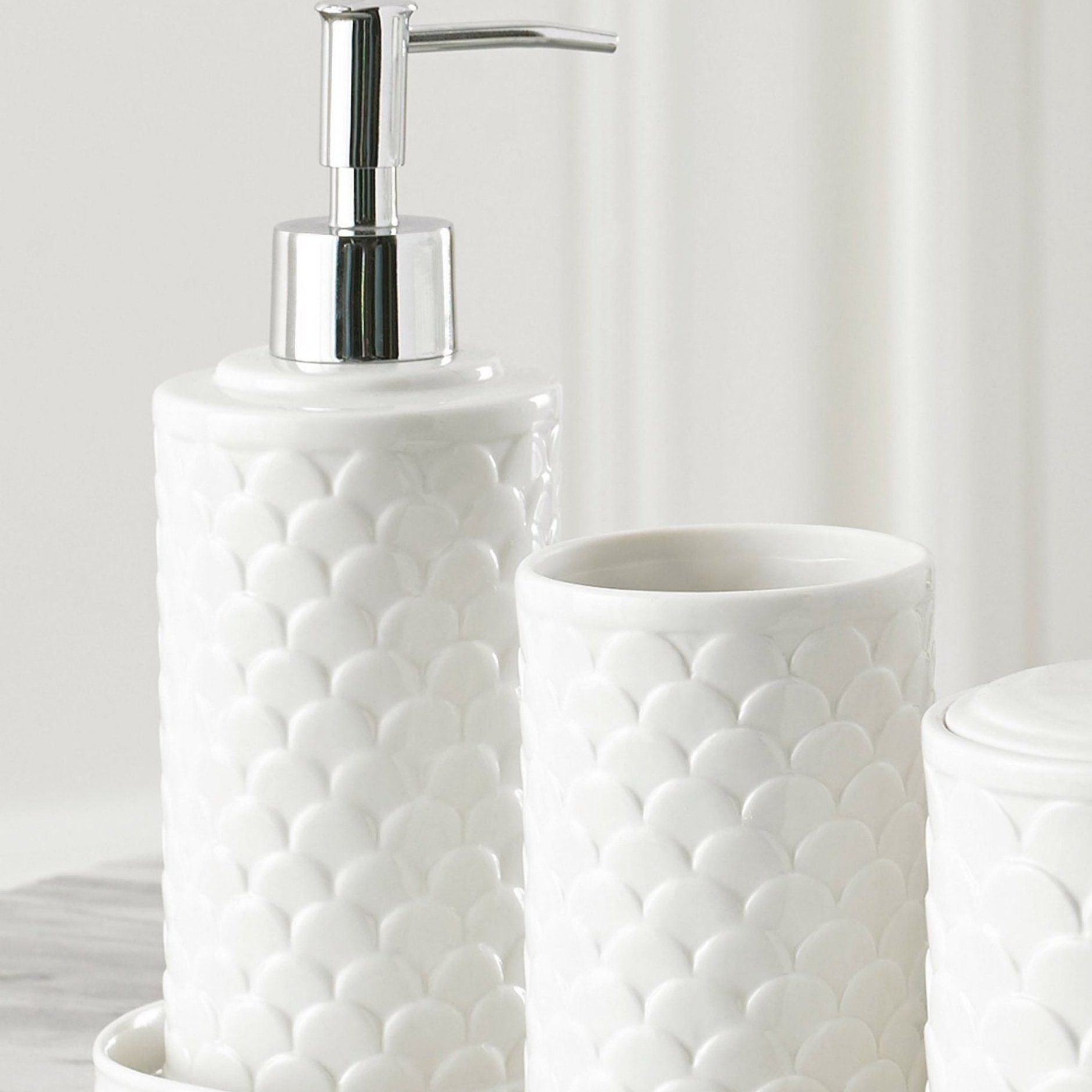 Scala Ivory Porcelain Bath Accessories Decoration Homedecoration