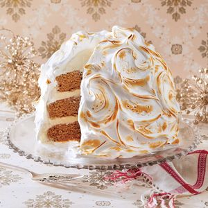 Gingerbread Baked Alaska | MyRecipes.com The mixing bowl from a heavy-duty stand mixer makes a perfect mold for assembling the cake and ice cream. Be sure your plastic wrap extends well beyond your bowl to completely cover your cake and ice cream mixture.