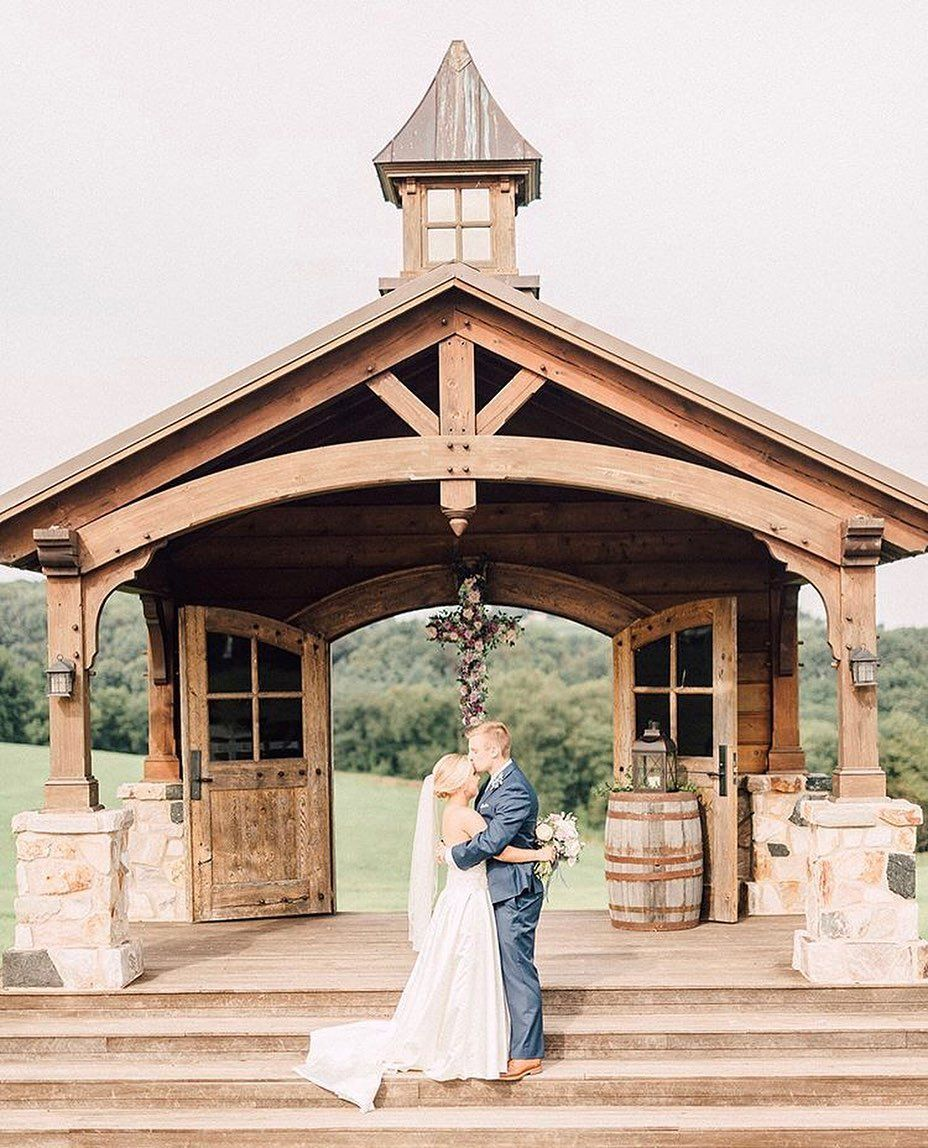 """Photo of Wyndridge Farm Weddings on Instagram: """"Our outdoor wedding chapel is one of the most beautiful places to say, """"I do!"""" Set amidst the rolling hills of PA, this spot is picture…"""""""