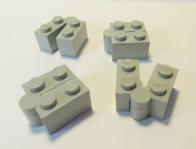 LEGO 3830 3831 old gray Light Gray Hinge Brick 1 x 4 Swivel Base