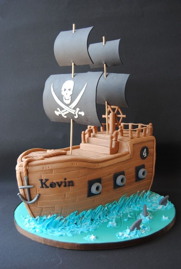 Enjoyable Pirate Ship Cake Childrens Birthday Cakes Beautiful Birthday Birthday Cards Printable Riciscafe Filternl