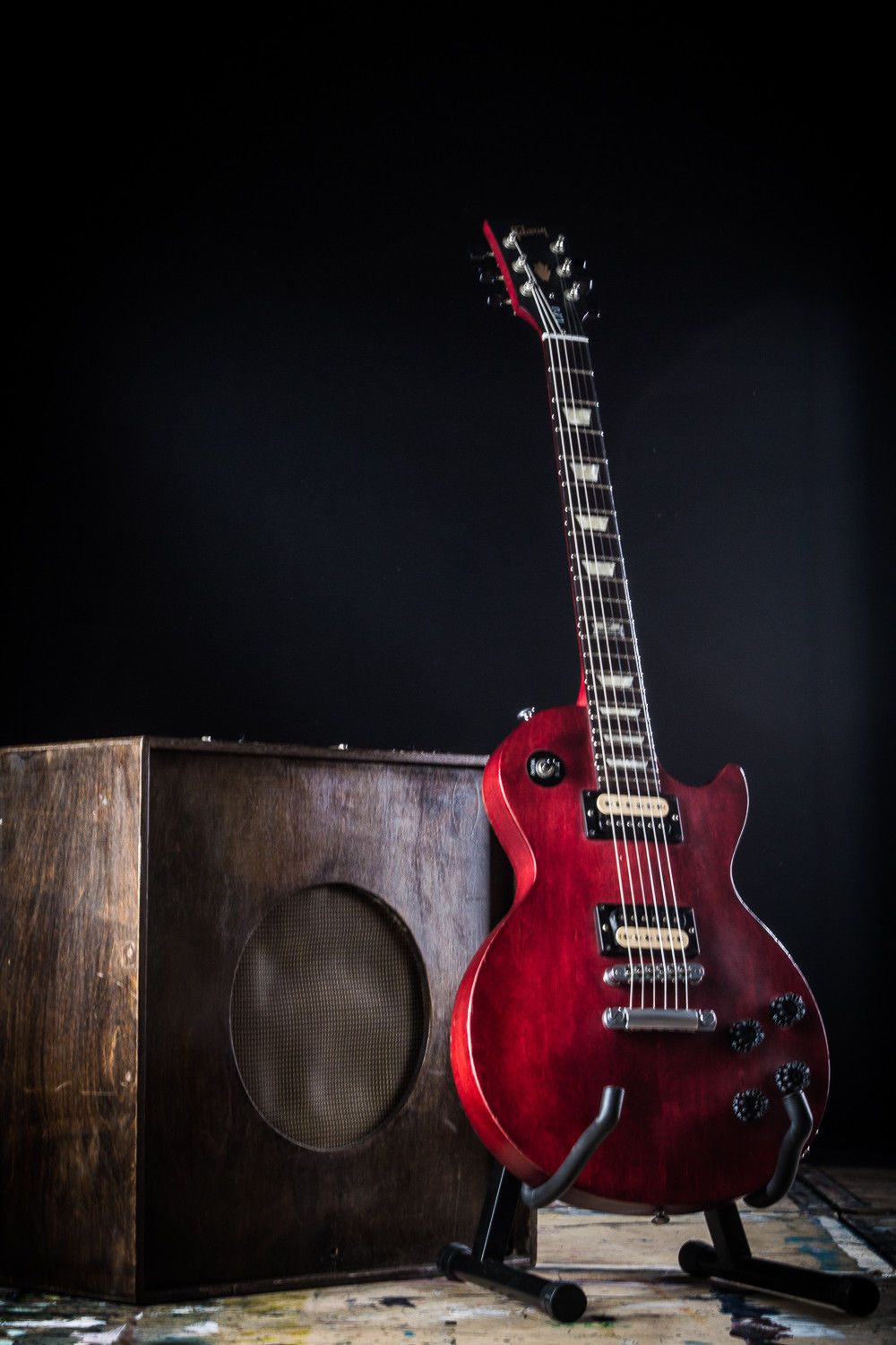 AWESOME 2014 GIBSON USA LES PAUL LPJ ELECTRIC GUITAR SATIN CHERRY FINISH