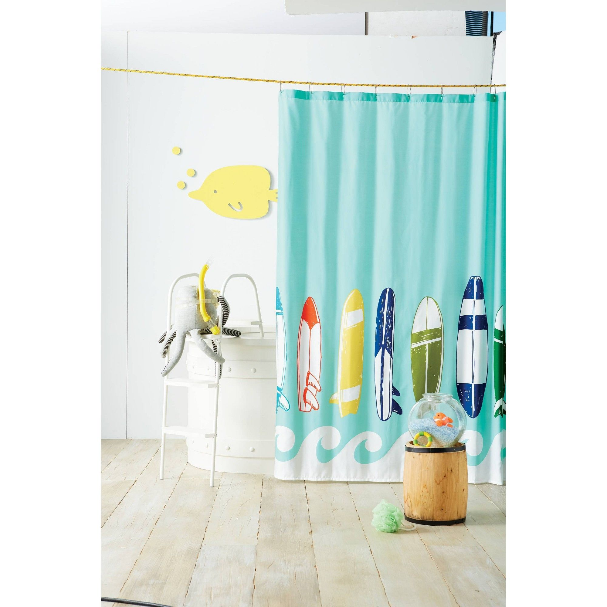 Surfboards Shower Curtain Blue Ocean Pillowfort Women S