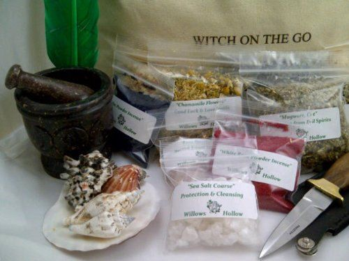 Witchcraft Starter Kit with Tote Large by AncientWisdomShoppe