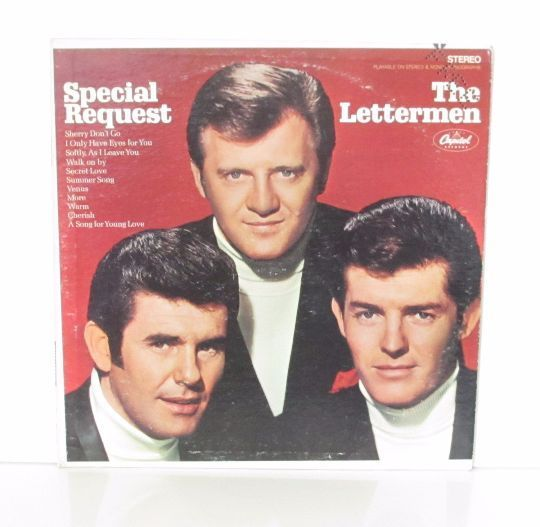 The Lettermen Special Request 1968 Promo Copy Vinyl Lp