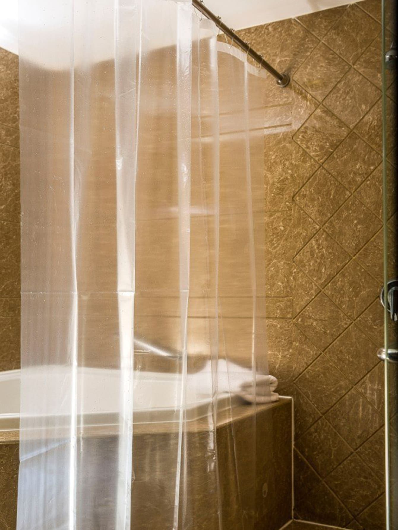Transparent Shower Curtain With 12hooks Sponsored Sponsored