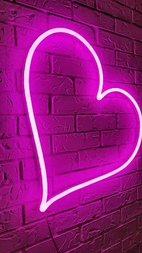 Neon Heart Shopnarwall Pink Neon Wallpaper Hot Pink Wallpaper Neon Wallpaper