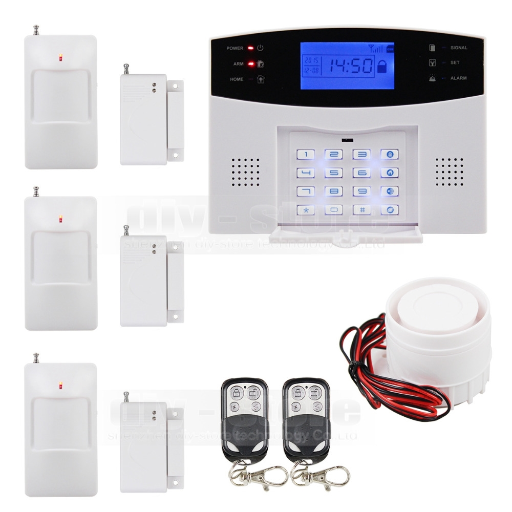 7894 Watch Here Diysecur 433mhz Wireless Wired Defense Zones Gsm Pir Sensor Based Alarm Passive Infrared Secuirty System Sim