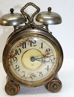 Antique Alarm Clock Table Clock Junghans In Collectables