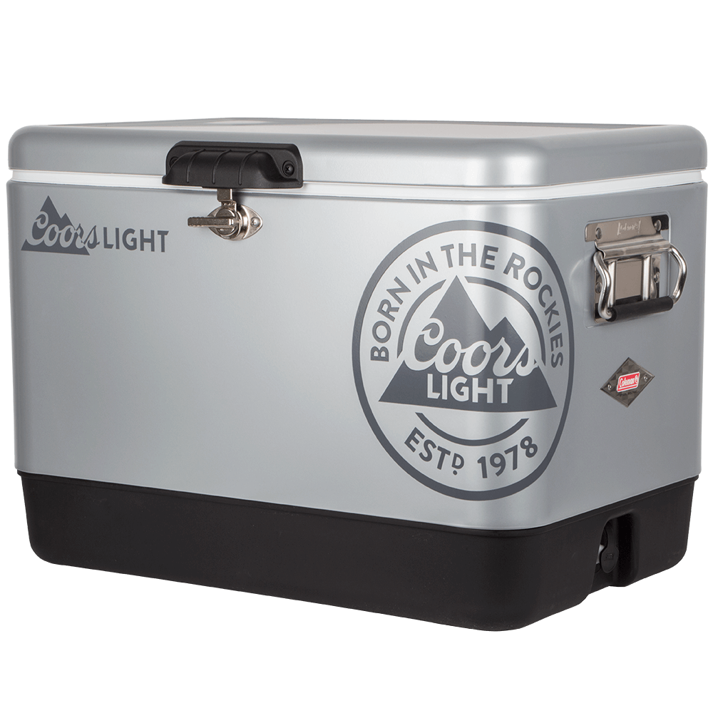 Cooler Is The Perfect Addition To Any Summer Party Inside Generous And Roomy While Outside Has A Sleek Metal Like Finish Coors Light