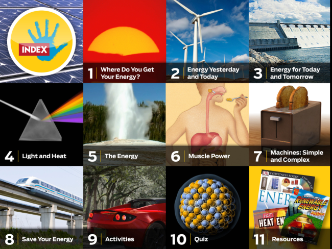 Our Ipad App On Energy Delves Into The Many Forms Of Energy We Encounter Here On Earth From Renewable Energy Such As Wind And So Renewable Energy Science Activities Heat Energy