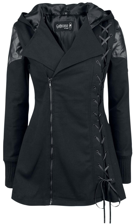 c964c75e Gothicana by EMP Vampire Jacket Girls coat black XL: Amazon.co.uk: Clothing