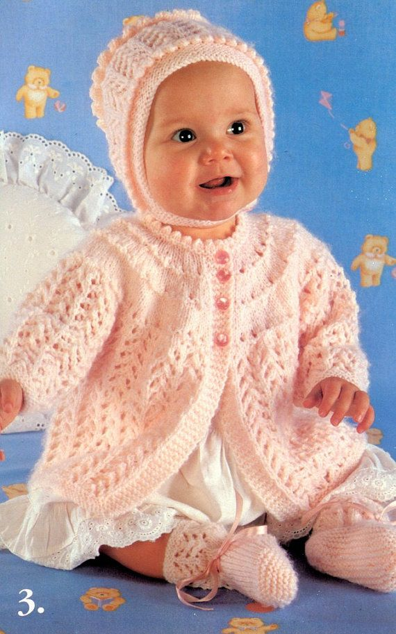 Knitting Pattern Book Adorable Baby Sweaters 6 To 18 Months