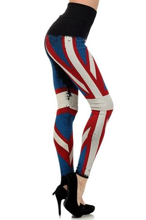 04060bf084c860 High Waist Union Jack Leggings $35.00 | Get in Trend: New Arrivals ...